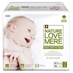 Подгузники детские Nature Love Mere, серия MAGIC SOFT FIT, размер NB-S, 26 шт [2.7-6 kg]